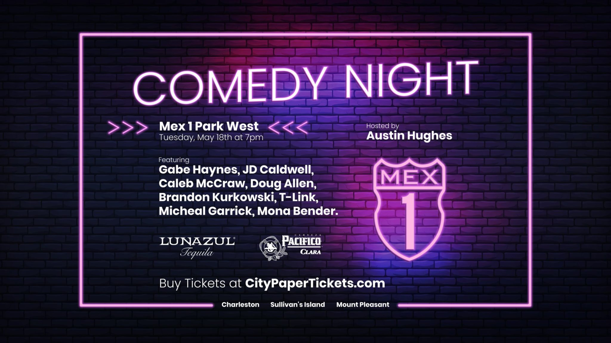 Comedy Night at Mex 1 Park West Tuesday, May 18th